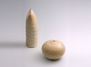 Cream salt and pepper set