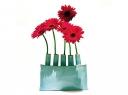 Blue liner vase